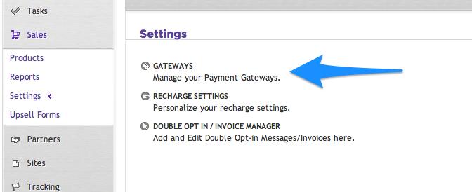 Select New Ontraport Gateway